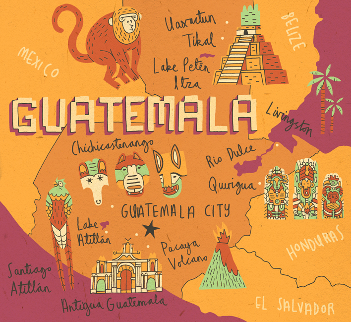 Guatemala map 2